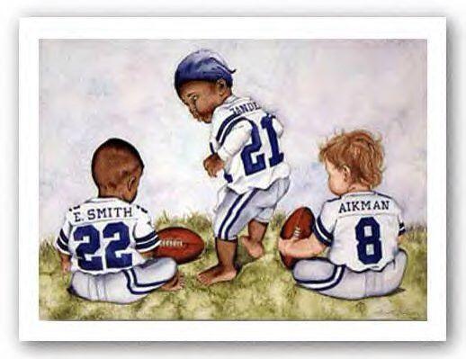 Dallas Cowboys Triplets Babies Photo Art Dallas Cowboys