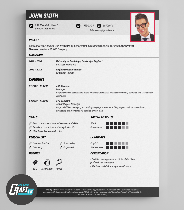 Original CV CV Online Cv Layout Download CV