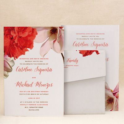 Bright Blooms Wedding Floral Cards , E-Card Designs Buy Bright