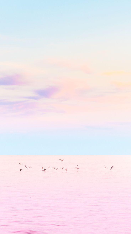 Pastel Sea IPhone Wallpaper