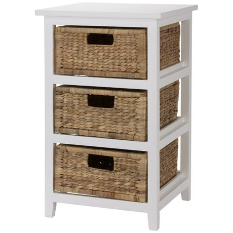 The woven waterhyacinth baskets paired with the white frame give the Rangoon Storage Unit a warm feel. The search for adequate storage space for i  sc 1 st  Pinterest & Rangoon 3 Drawer Storage Unit | Freedom Furniture and Homewares ...