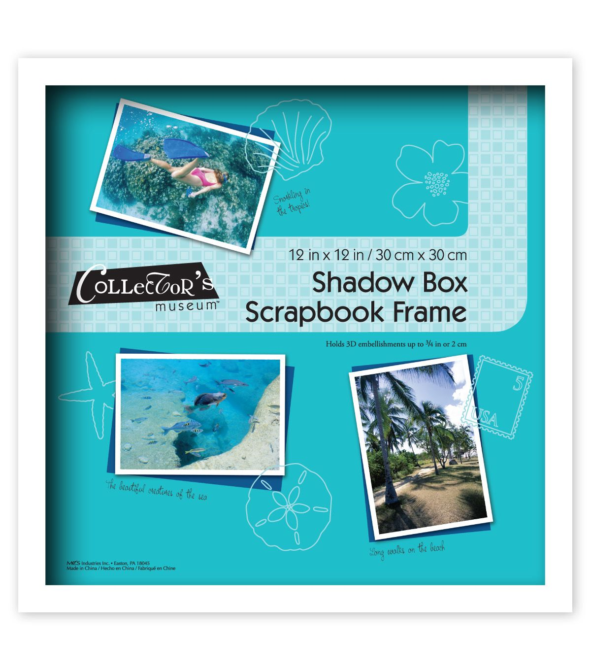 MCS Industries Collector\'s Museum Shadow Box Scrapbook Frame 12\'\'x12\'\'