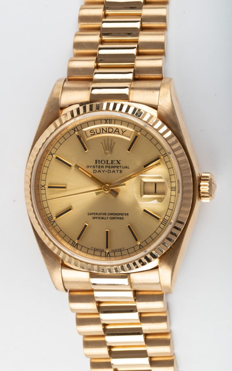 Rolex Day Date President 18038 Champagne Dial Rolex Watches Rolex Watches For Men Rolex Day Date [ 1200 x 750 Pixel ]