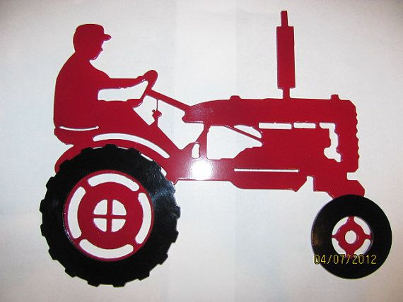 Farmall or johndeere b tractor plasma cut by mmheavymetal for Tractor art projects