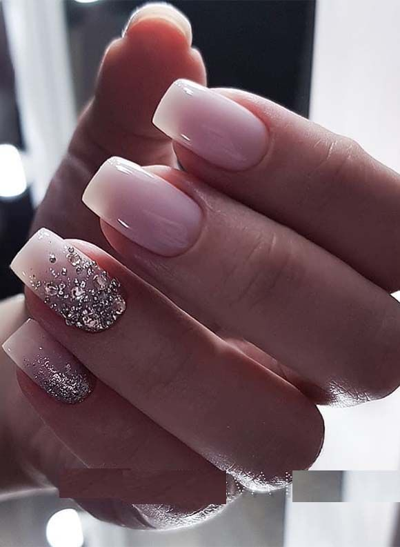 Most Beautiful And Charming Pink Nail Arts And Designs For Ladies To Wear In 2019 Our Glitter Light Pink Nail Ombre Nails Glitter Pink Nail Designs Pink Nails