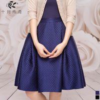 OL elegante octubre Leyenda de la Mujer 2014 clásico de verano falda sólida falda corta SSQ412060