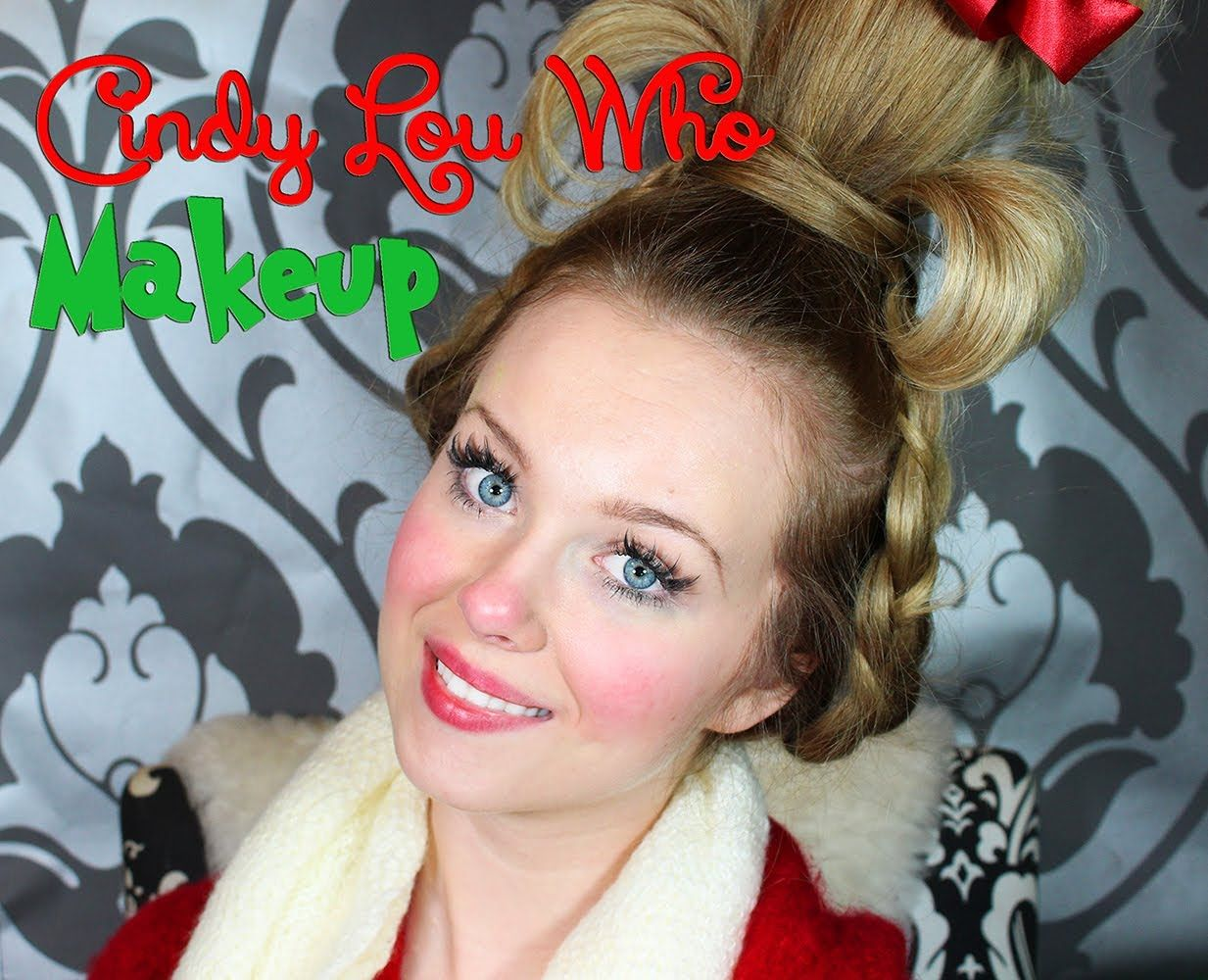 How to make your own grinch costume - Cindy Lou Who The Grinch Who Stole Christmas Makeup Tutorial