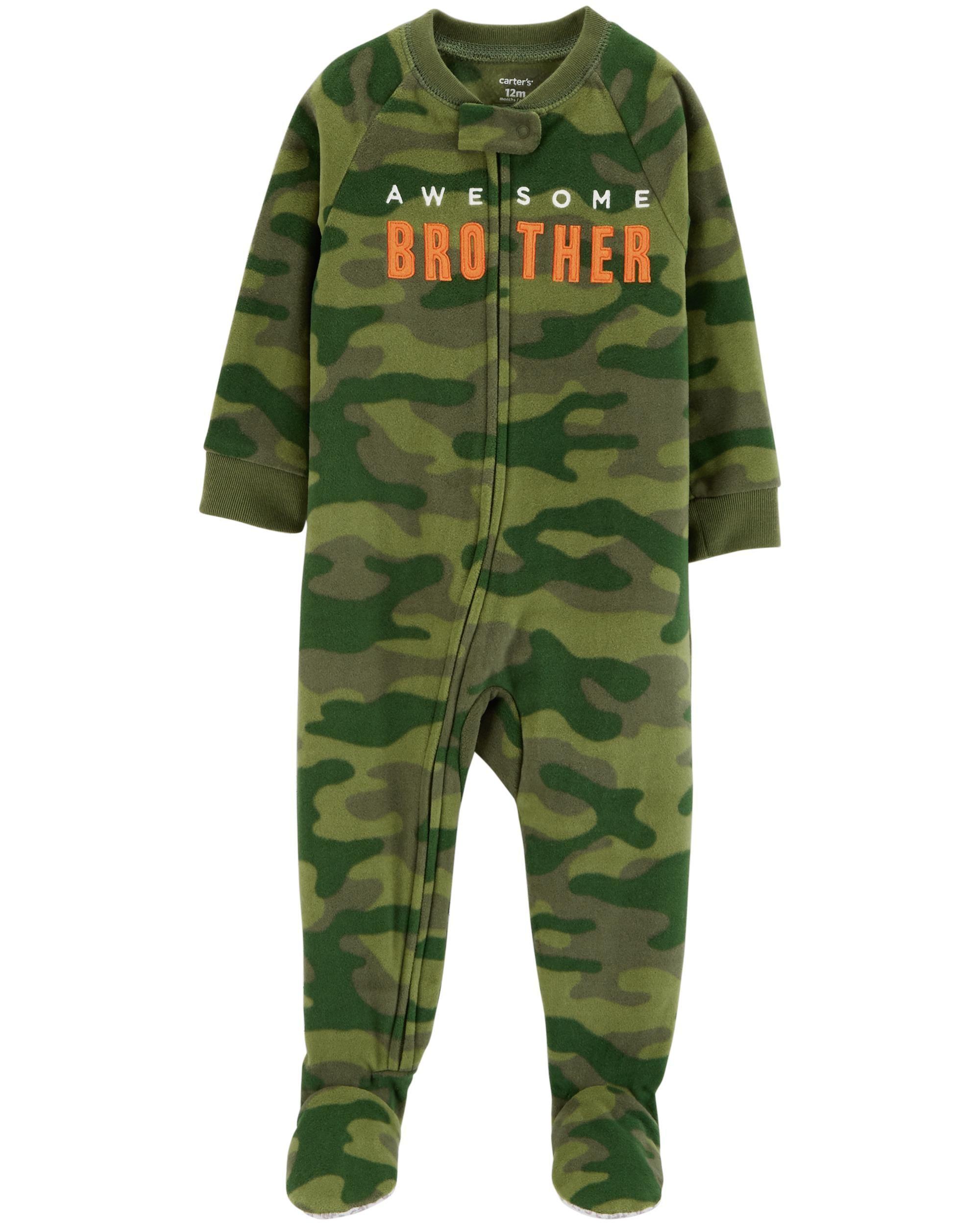 19e53b1c4 1-Piece Brother Fleece PJs
