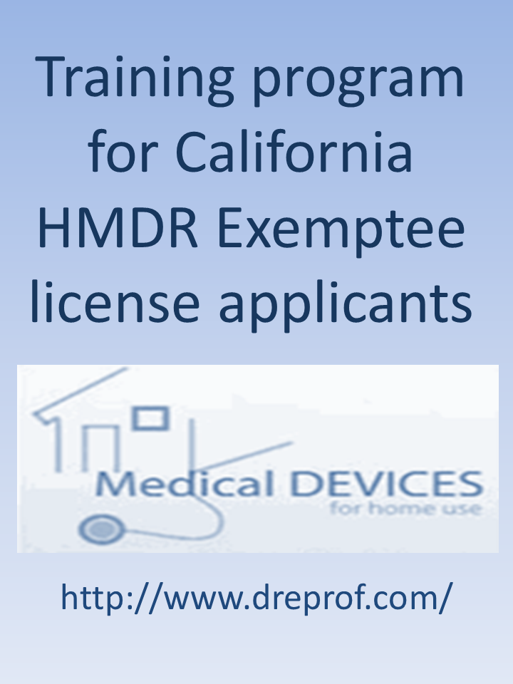 California Exemptee Certification Course Accepted By The