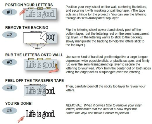 Application Instructions Name Wall Decals Vinyl Wall Decals Wall Decor Decals