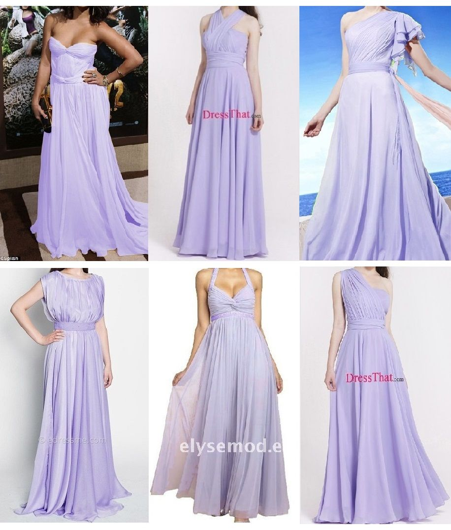 Grecian bridesmaid dresses in light purplelavenderlilac the far grecian bridesmaid dresses in light purplelavenderlilac the far right ones ombrellifo Images