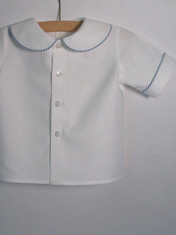 Peter Pan Collar Baby Shirt Patricia Smith Designs