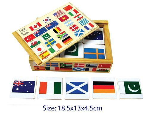 International flags pairs memory game preschool educational wooden flags of the world memory game gumiabroncs Choice Image