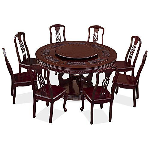 China Furniture Online Rosewood Round Dining Table Set With 8