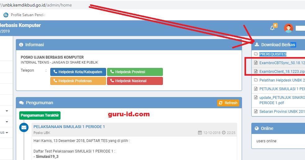 Download Exambro Admin Dan Client Unbk 2020 Guru Aplikasi