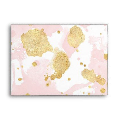 Blush pink gold paint splatters envelope girly gifts special blush pink gold paint splatters envelope girly gifts special unique gift idea custom negle Gallery