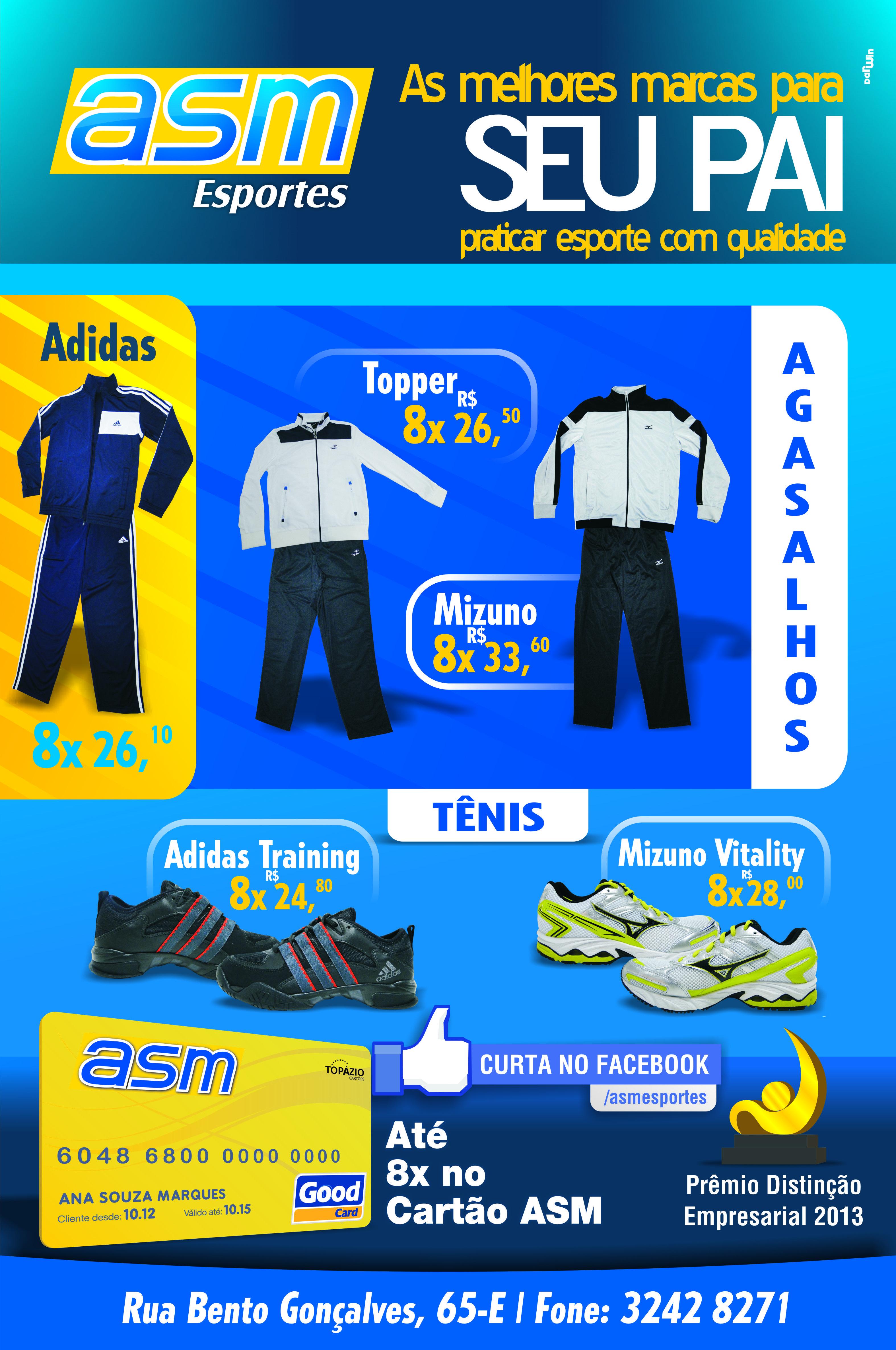 Flyer ASM Esportes Dia dos Pais