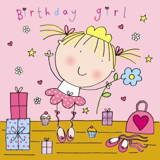 birthday girl drawing birthday art – Birthday Cards for Girl