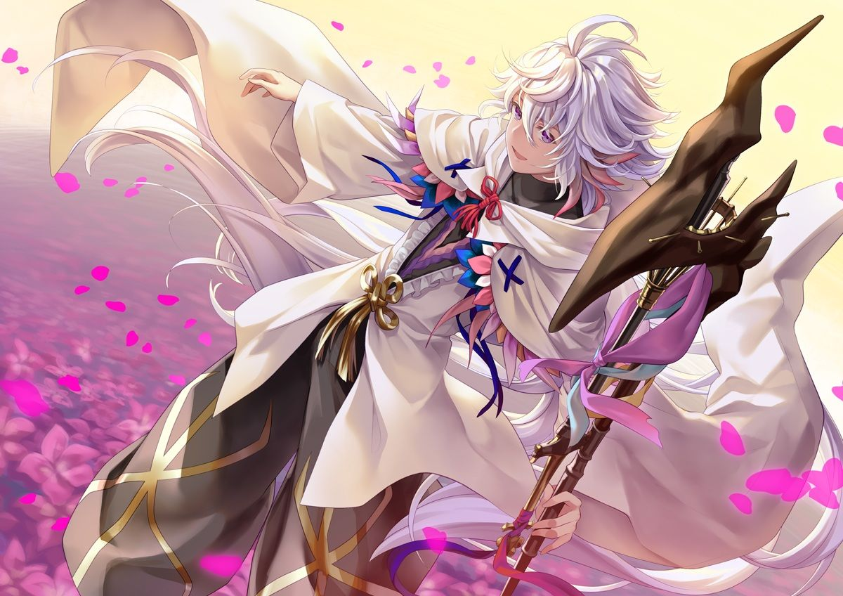 Merlin Fate Grand Order Merlin Boy With White Hair Fate