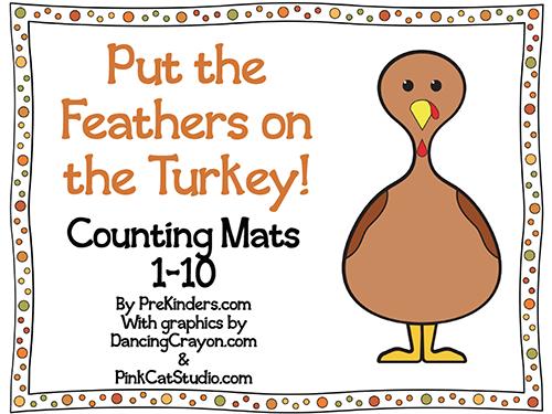 preschool worksheet counting turkey feathers preschool best free printable worksheets. Black Bedroom Furniture Sets. Home Design Ideas
