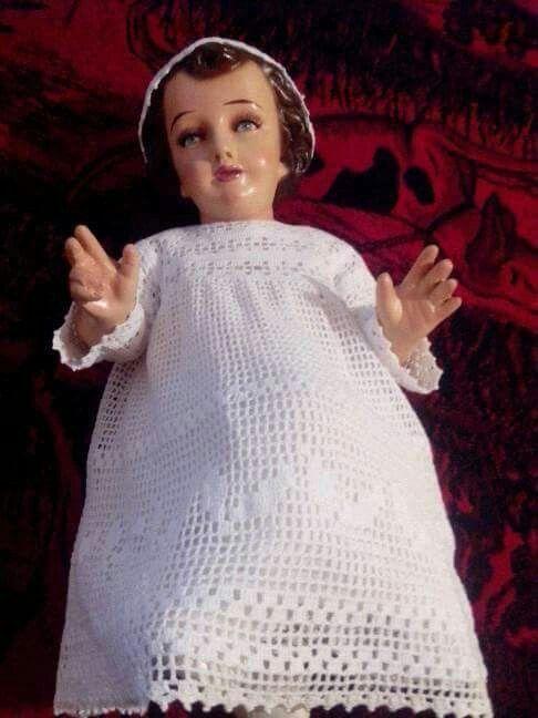 906962e04 niño dios | ropon nino dios | Niño dios vestido, Ropones para niño ...