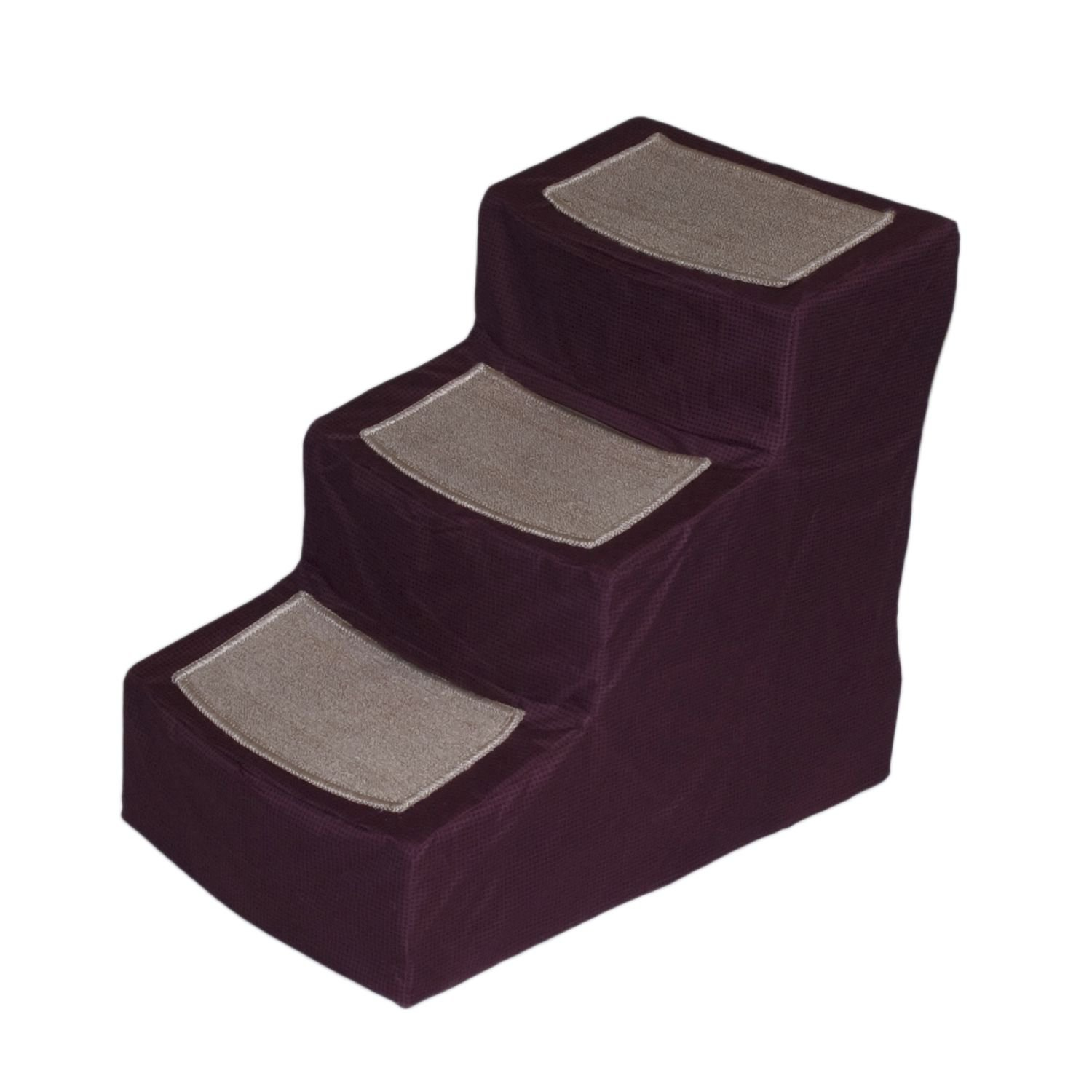 Pet Gear Burgundy Designer 3 Step Stair with Removable