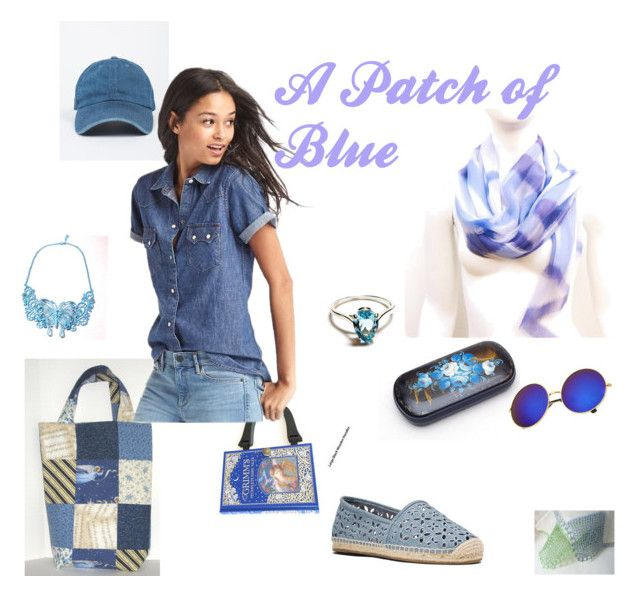 """""""A Patch of Blue"""" by juliaheartfelt ❤ liked on Polyvore featuring Gap and MICHAEL Michael Kors"""