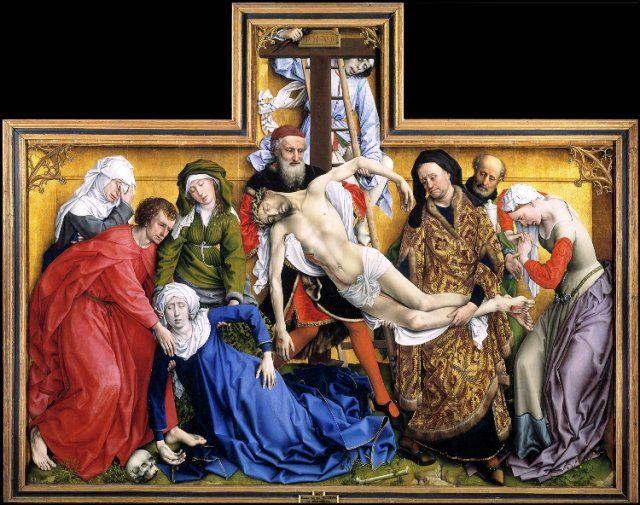 Descendimiento De La Cruz Roger Van Der Weyden Museo Nacional Del Prado Obras De Arte Pintura Flamenca
