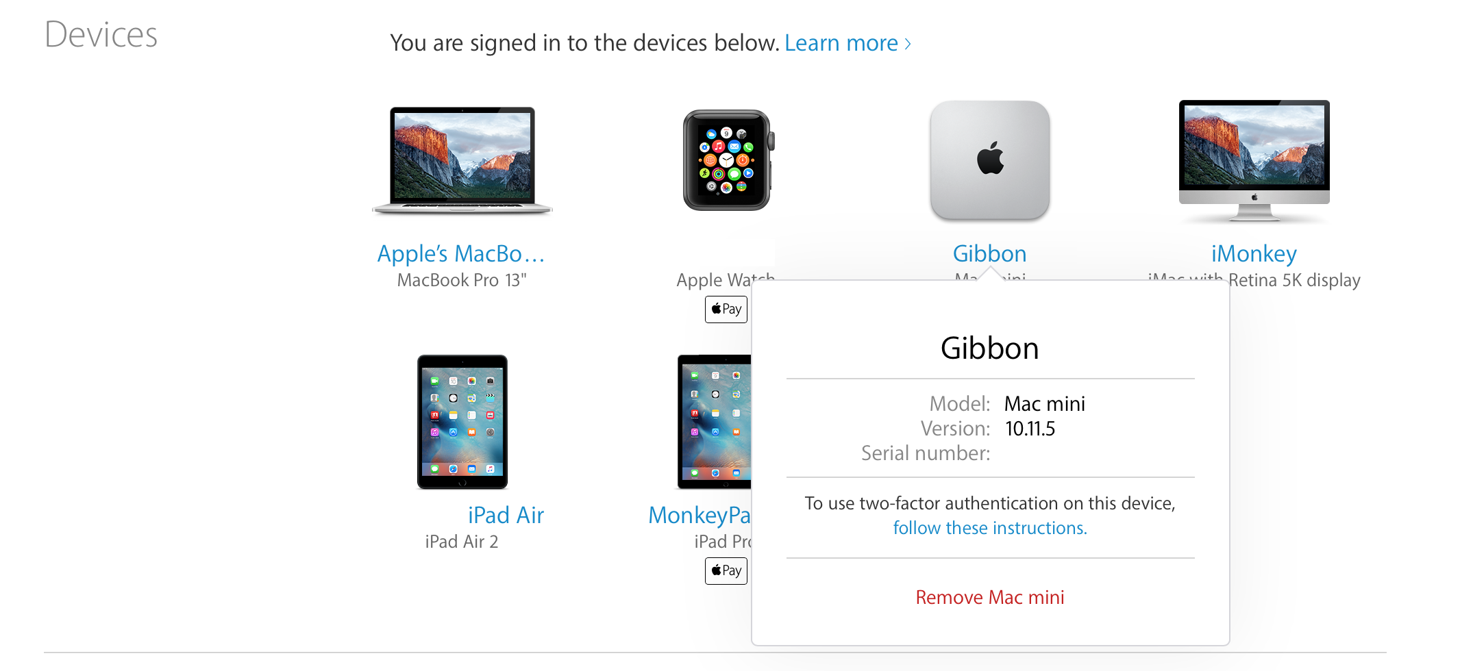 How To See Every Mac Ipad And Iphone Associated With Your Apple Id Iphone Mac Mini Apple
