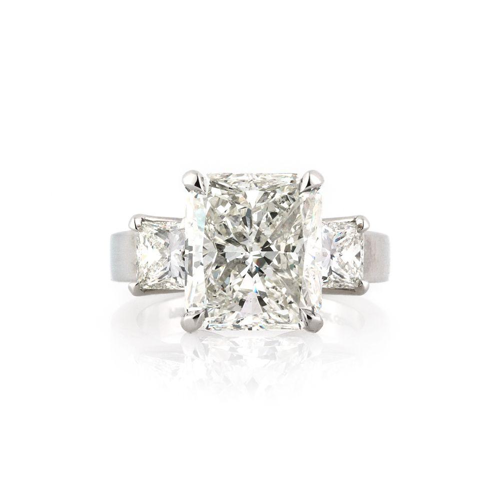 Ct radiant cut diamond engagement ring shiny objects