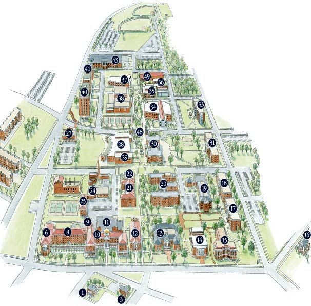 Old Dominion Campus Map.Campus Map Farmville Longwood Campus Map Longwood University
