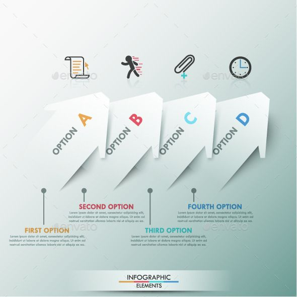 Moder infographic template with arrows ccuart Image collections