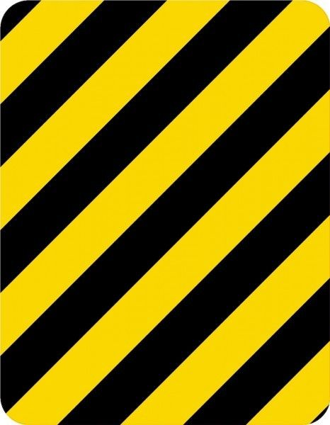 StickerTalk Yellow and Black Caution Stripes Vinyl Sticker, …