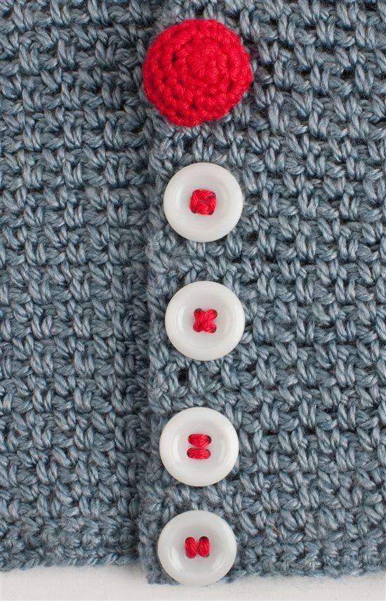 Great tips for crochet buttons and attaching store buttons to your crochet.  Button, Button, Who's got the (Crocheted) Button? - How to Crochet - Crochet Me