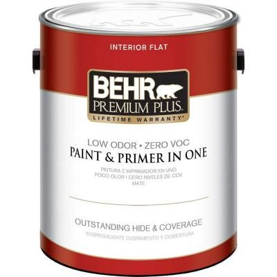 Behr Premium Plus 1 Gal Ultra Pure White Flat Low Odor Interior Paint And Primer In One 105001 With Images Interior Paint Behr