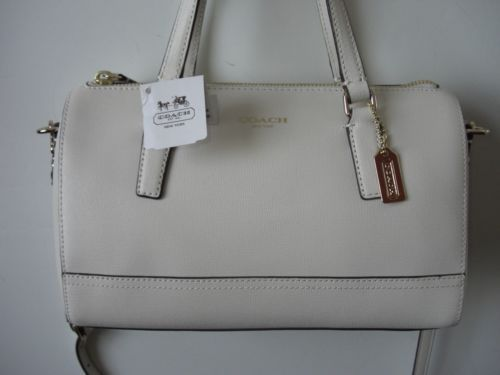 Coach 49392 Saffiano Leather Mini Satchel Handbag Purse Parchment | eBay