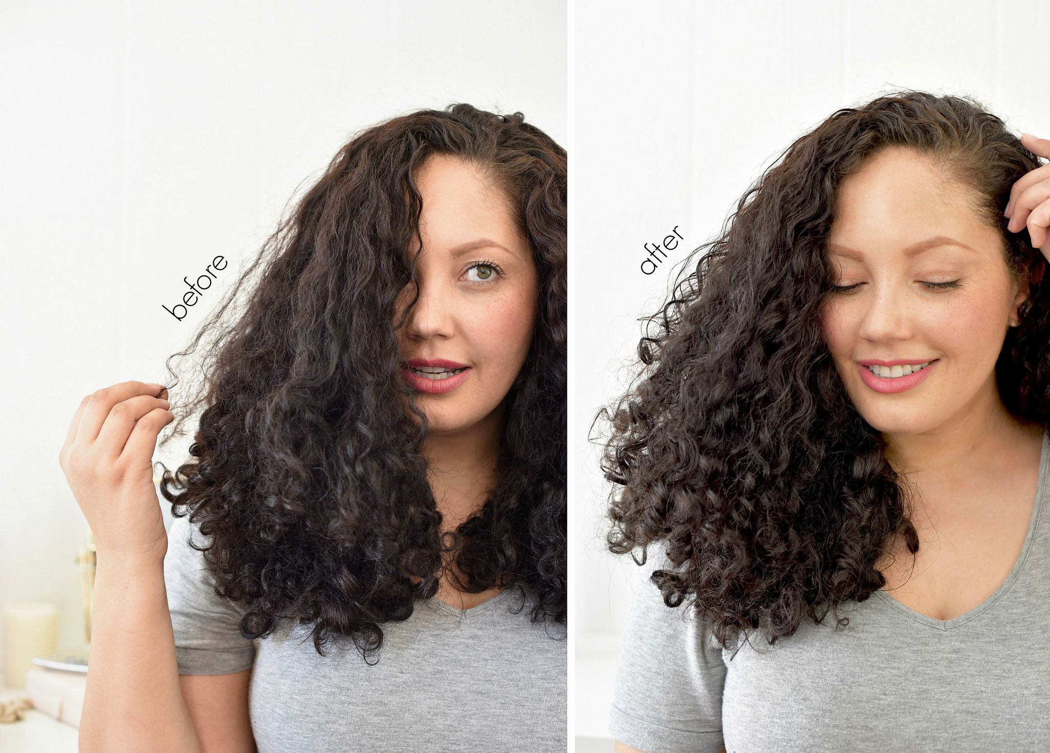 Curly Hair Refresh Routine With Images Hair 3a Curly Hair