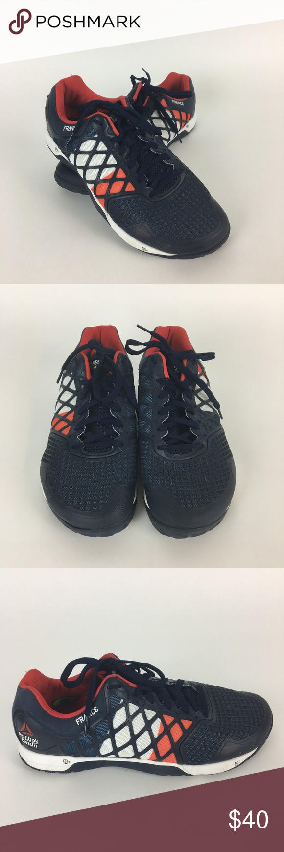 62d3216f63e85 Reebok Crossfit Nano 4 France Flag Training Shoes Great used condition men's  Reebok Crossfit shoes. Nano 4, France edition with the French flag on the  side ...