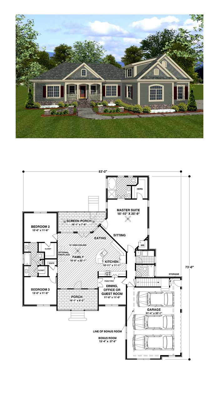 1800s Country Homes: Best Selling House Plan 92385