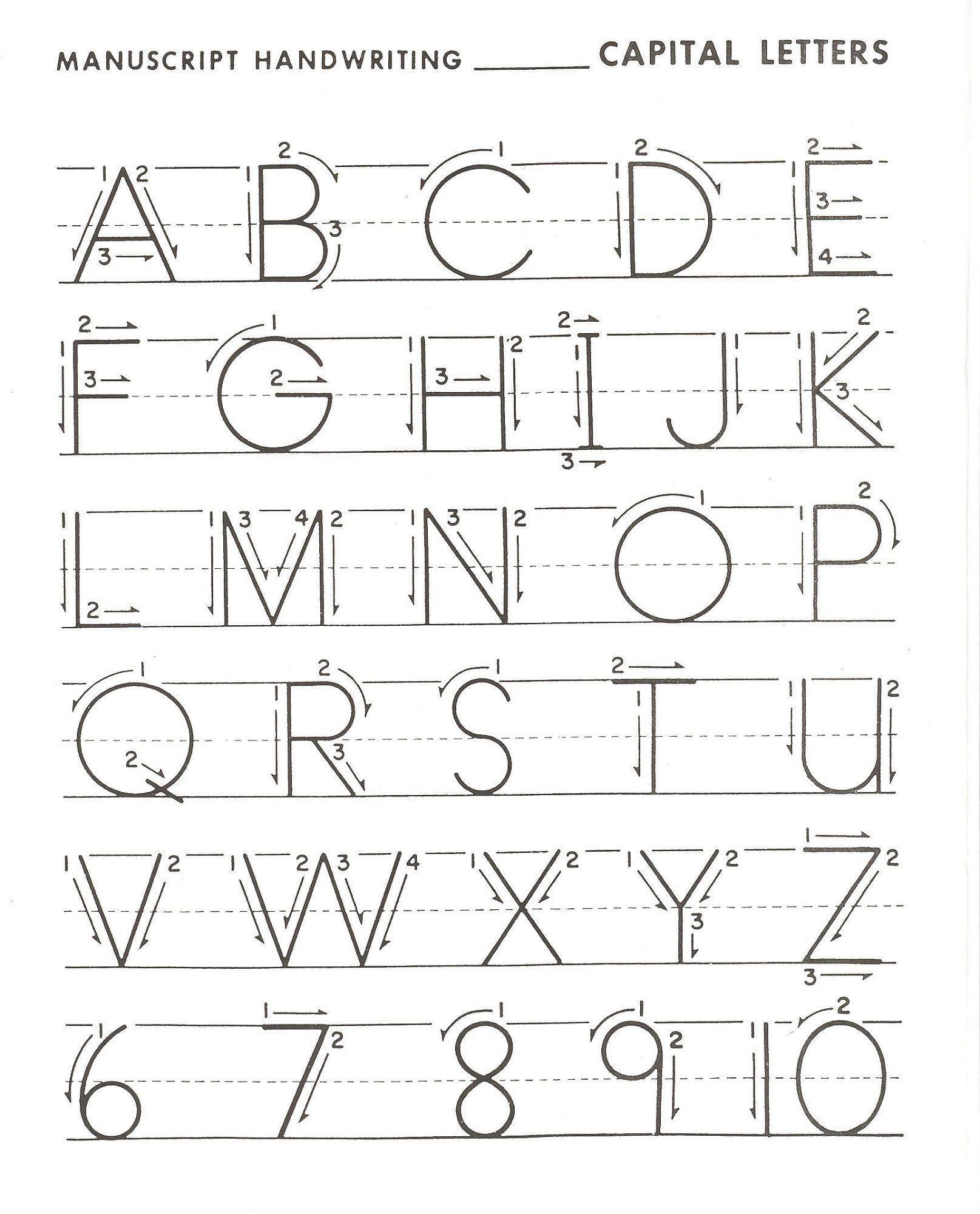 Capital Alphabet Letters Printable