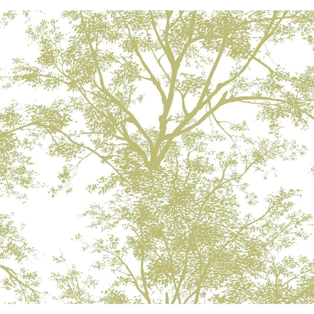 Miraculous York Wallcoverings Tree Silhouette Wallpaper Ap7504 New Interior Design Ideas Skatsoteloinfo