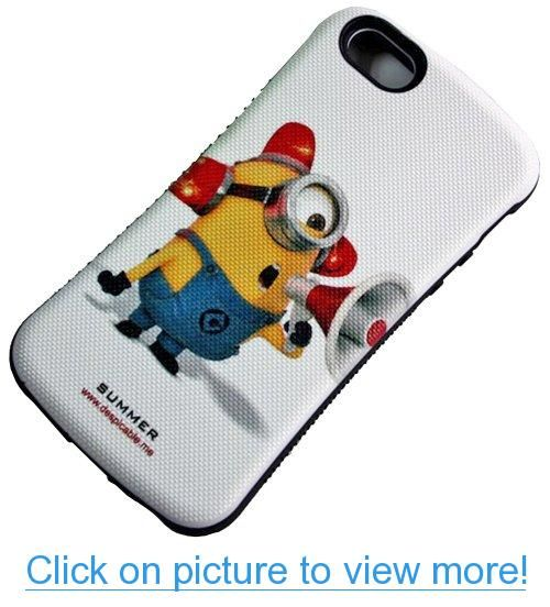 Huaxia Datacom Despicable Me Cartoon Minions Anti-Shock Urethane Bumper iFace Case for Apple iPhone 5 5S (not for 5C)