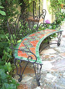 Enjoyable Talavera Tile On Tree Bench Tile Art Tiles Outdoor Tiles Uwap Interior Chair Design Uwaporg