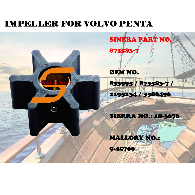 Sinera Marine Impeller For Volvo Penta Omc 583602 3588475 3588914 3830459 3854286 803729 831182 835874 875583 7 875736 1 875 In 2020 Snowmobile Marine Omc