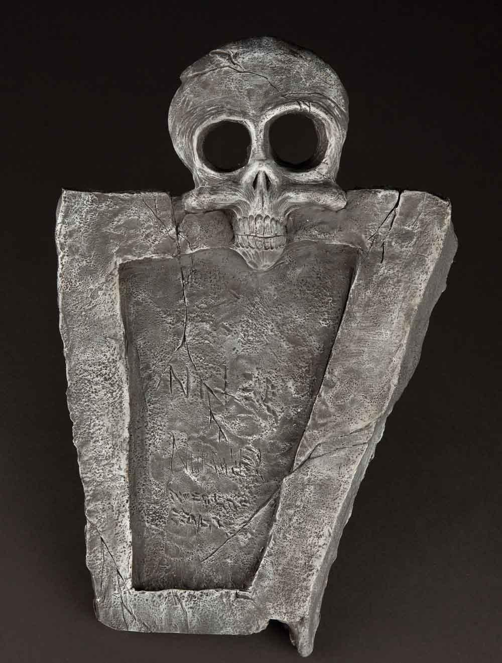 Screen-used full-scale skeleton Halloween Town gravestone from The ...
