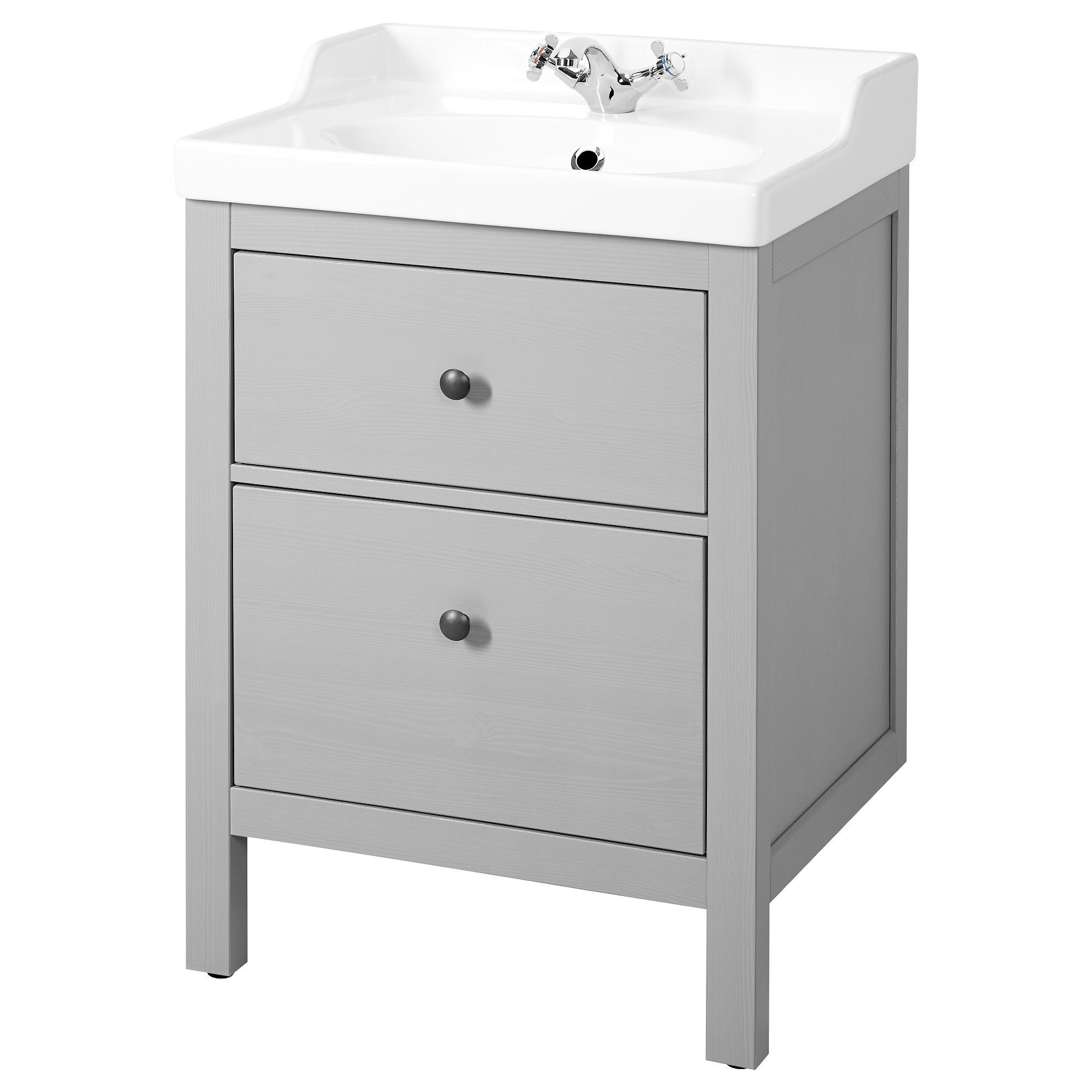 HEMNES / RÄTTVIKEN Sink cabinet with 2 drawers, gray | HEMNES, Water ...