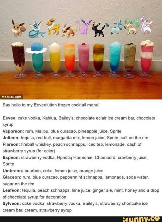 Drinks For Pokemon Lovers Pokemon Frozen Cocktails