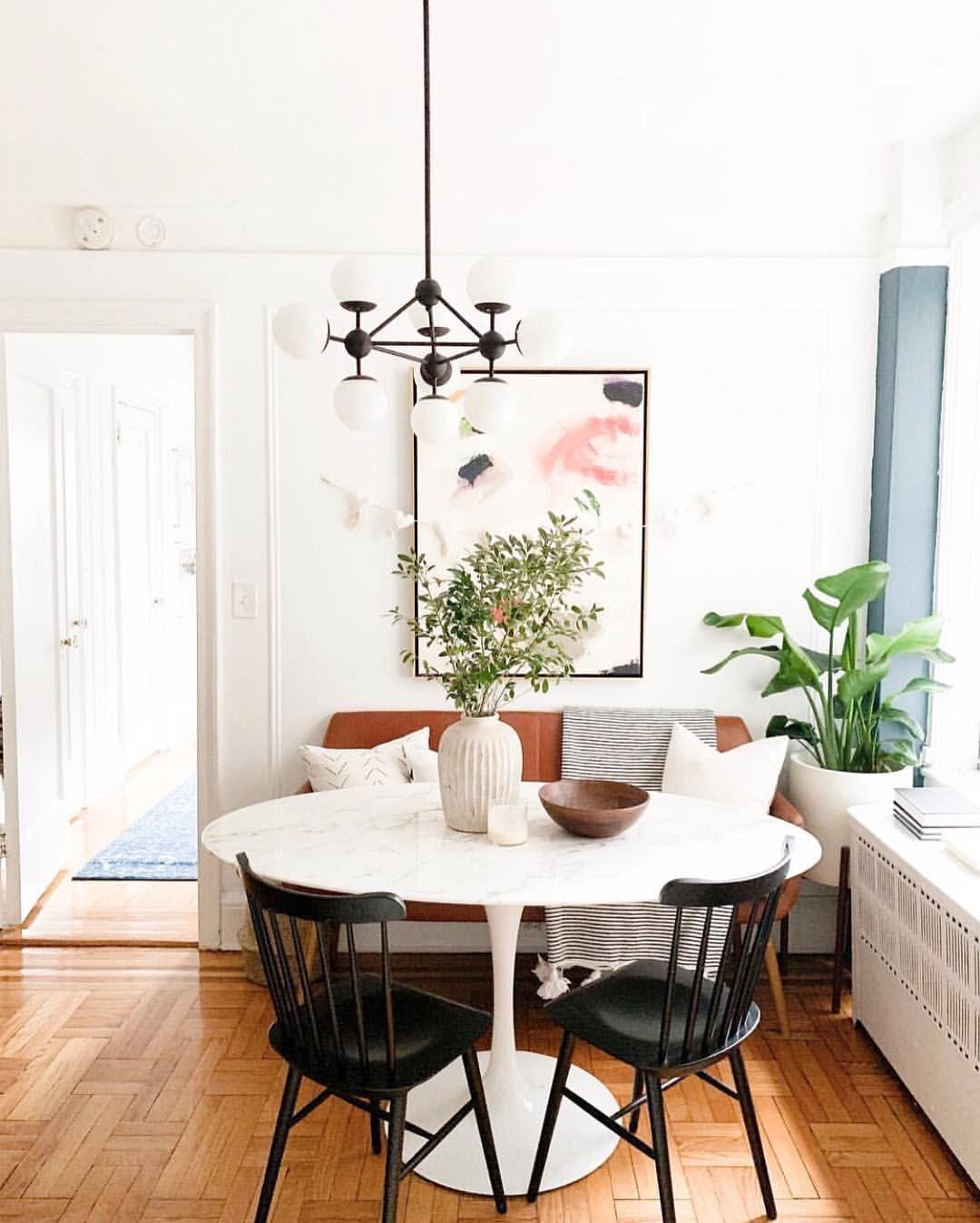 Crystal Ann Interiors New York Studio Dining Woven Nook Dining