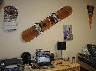Photo of Snowboard Wandhalterung | Hang Time #Kreationsraum #Büro #Kreationsraum #