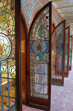 Stained glass doors. ❣Julianne McPeters❣ no pin limits